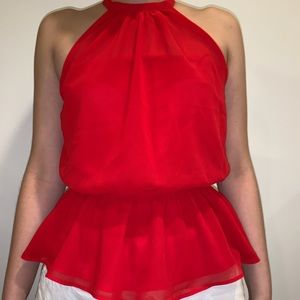 Red Blouse from Express; never worn w/ tags!